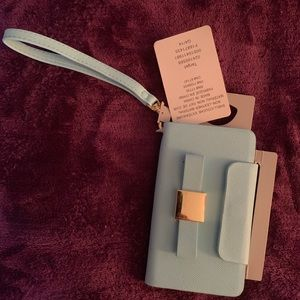 Handbags - New Fashionable blue wristlet phone/card holder